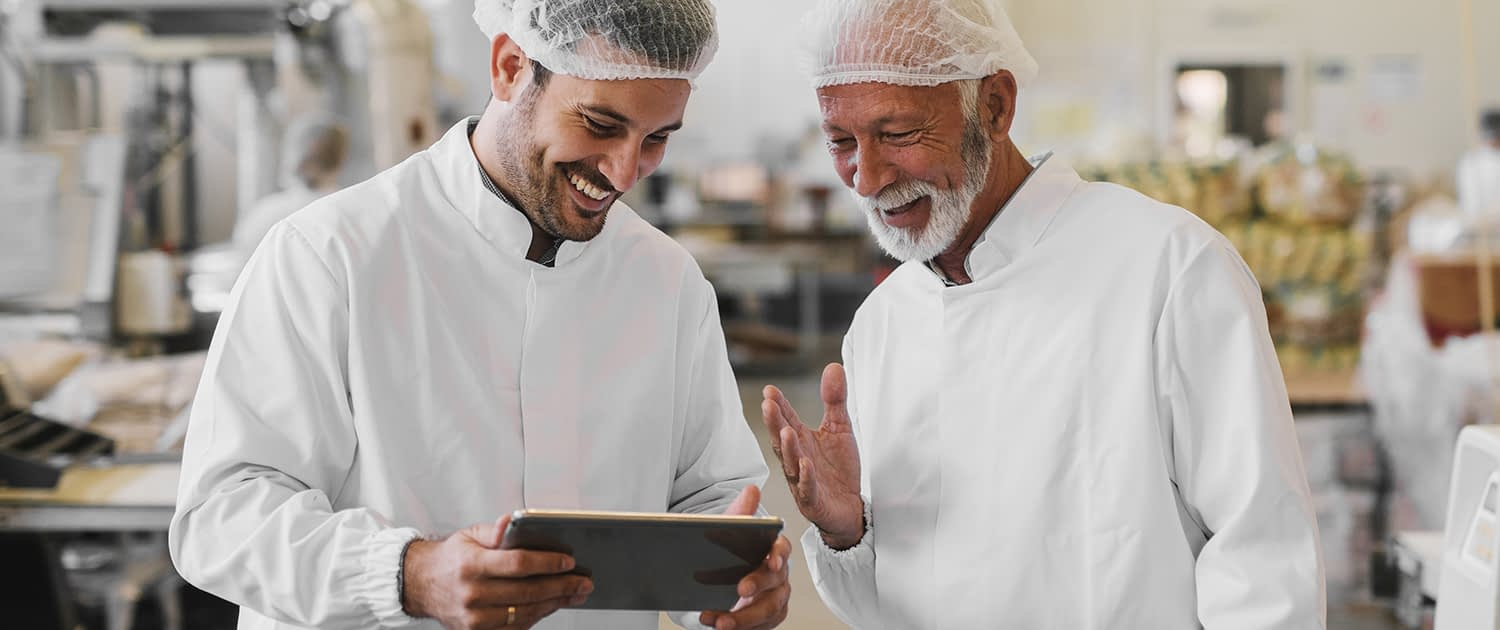 Cybergear uses manufacturing execution systems to track food production.
